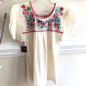 Authentic, Embroidered Linen Top